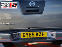 bumper mounted camera fitted to Nissan Navara