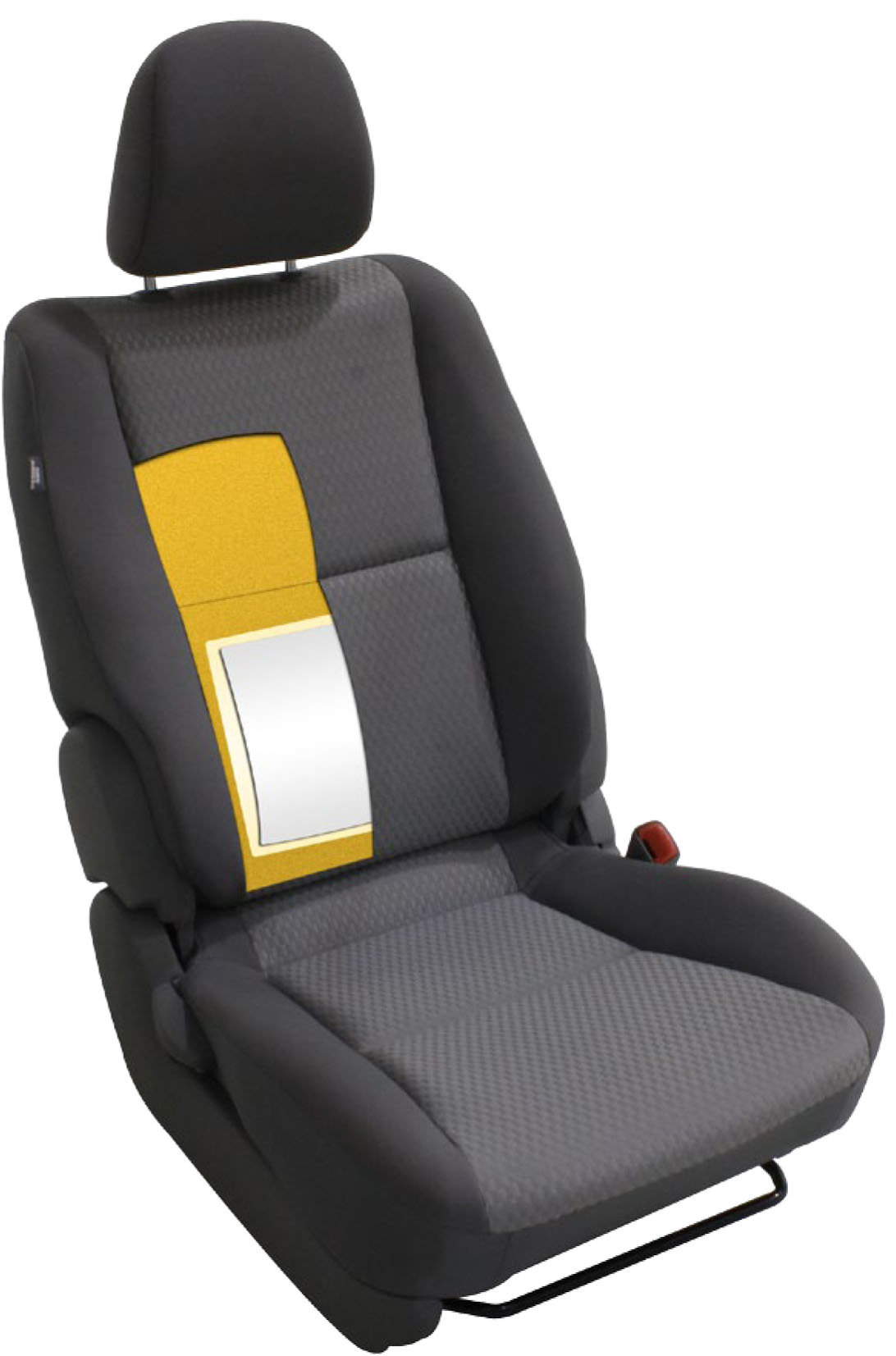 Car seat lumbar support for comfort