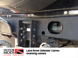 land rover defender towing camera