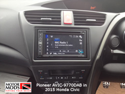 new honda civic with pioneer navigation