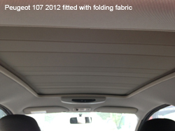 peugeot 107 folding fabric sunroof