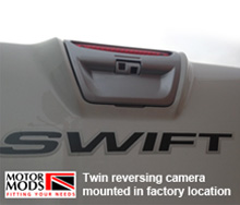 twin reversing camera motorhome